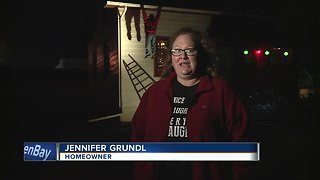 Someone called 911 after mistaking Christmas decorations for a real person