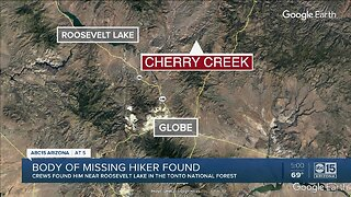 GCSO: Body of missing hiker found east of Roosevelt Lake