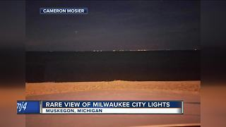 Milwaukee spotted from Michigan - Video
