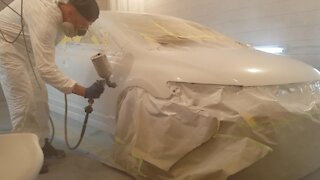 DIY How to paint your car Part 4 : Spraying base / clear paintjob