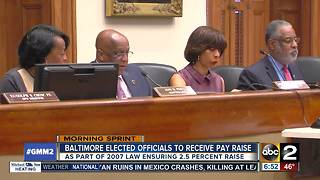 Baltimore elected officials set to receive raise in 2018 - Video