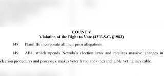 President Trump's campaign sues state of Nevada over mail-in voting