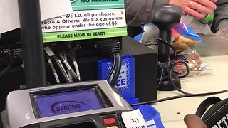 Drugged Cashiers Fall Asleep On The Checkout While Serving A Customer - Video