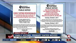 Early voting, primary dates moved - Video