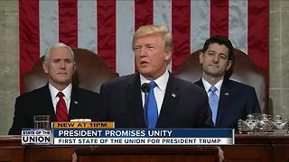 President promises unity during State of Union - Video