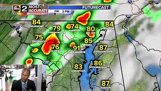 Showers and Storms Return to Baltimore