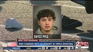 Man charged with accessory in triple shooting