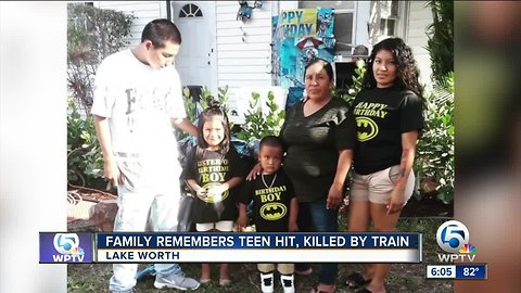 Family remembers young man killed by train