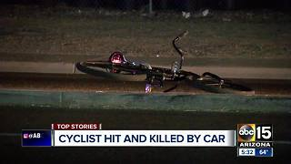 Cyclist struck and killed by a car in Phoenix - Video