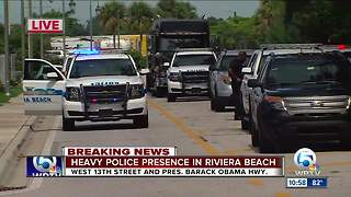 Police activity in Riviera Beach - Video