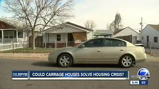 City encourages homeowners in west Denver to build carriage homes to curb affordable housing crisis - Video