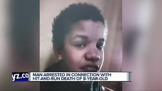 Man arrested in connection with hit-and-run that killed 8-year-old boy in Detroit - Video