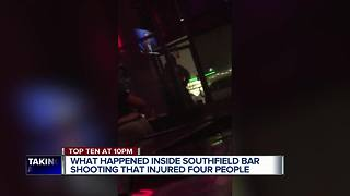 Dramatic video shows shooting inside Southfield bar - Video