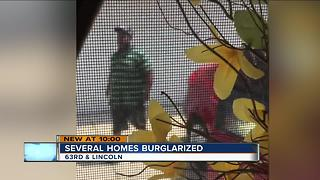 Fairview neighborhood targeted by burglars - Video