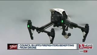Council Bluffs firefighters benefiting from drone - Video