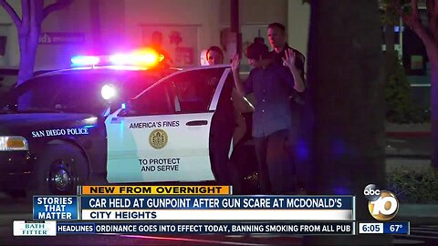 San Diego police called to City Heights McDonald's after gun scare