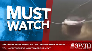 After Hours He Finally Snags A Fish, Quickly Discovers How Unpredictable Mother Nature Is - Video