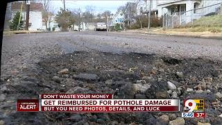 See how you can get reimbursed for pothole damage - Video