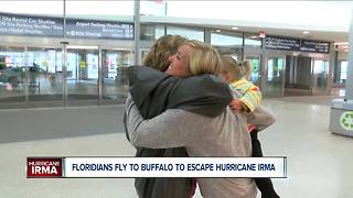 Floridians fly to Western New York to escape Irma - Video