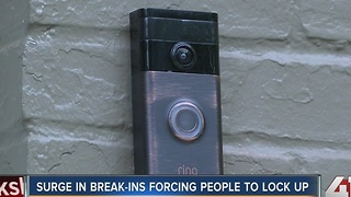 Surge in break-ins forcing people to lock up - Video