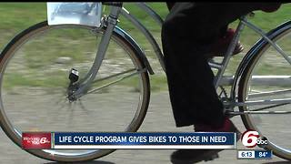 Life Cycle program gives bike to those in need - Video