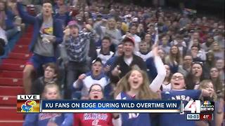 Lawrence fans celebrate KU's Elite 8 win - Video