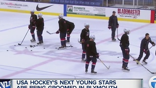 USA Hockey's next stars being groomed in Plymouth at USNTDP - Video