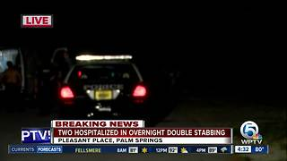 2 hospitalized after overnight stabbing in Palm Springs - Video