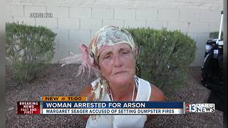57-year-old woman arrested for arson after dumpster fire spreads to vacant building - Video