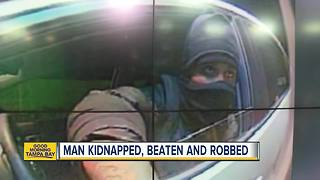 Authorities search for man who kidnapped, robbed 93-year-old man - Video