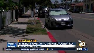 Mystery over who painted curb red - Video