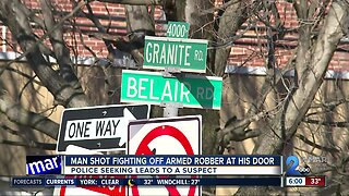 Man shot while fighting off suspects who showed up at his front door