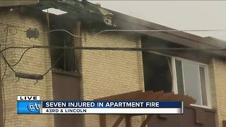 7 injured as fire burns through apartment on Milwaukee's south side - Video