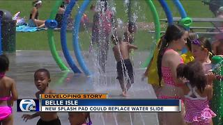 New splash pad could replace water slide on Belle Isle - Video