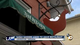 Sarah Sanders asked to leave restaurant - Video