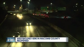 Westbound I-696 reopens in Macomb County - Video