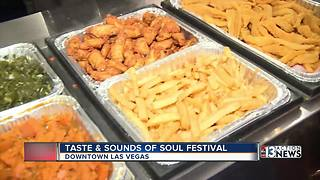 Taste and Sounds of Soul Festival in downtown Las Vegas - Video