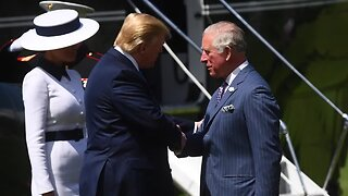 Trump breaks royal protocol when meeting Prince Charles