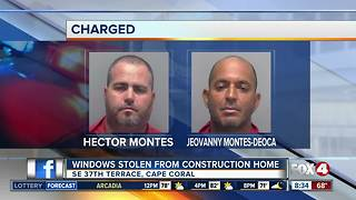 Windows stolen from Cape Coral construction site - Video