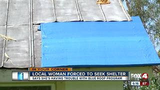 Estero couple seeks shelter after roof damage - Video