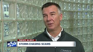 Storm-chasing scams follow after severe storms - Video
