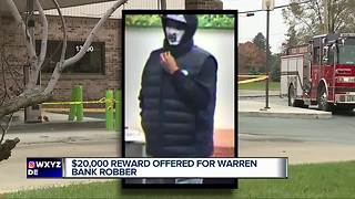 Warren bank offering $20K reward for robber who doused clerk in gas - Video