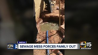 Sewage mess forces Mesa family from their home - Video