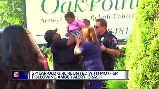 2-year-old girl reunited with mother following Amber Alert and crash