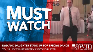 Dad Nervously Walks Onto The Dance Floor With Daughter. Leads To Best Dance I've Ever Seen - Video