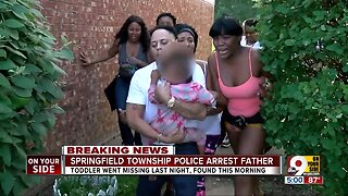 Father arrested after missing 3-year-old girl found in Springfield Township