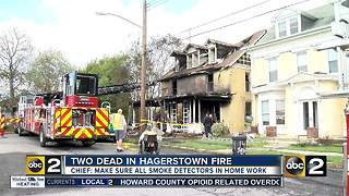 Two people die in Hagerstown fire overnight - Video