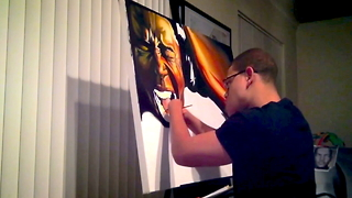 Painter With No Fingers Creates Incredible Artwork - Video