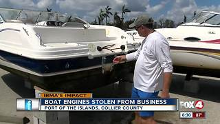 Thieves target boats dry-docked for Hurricane Irma