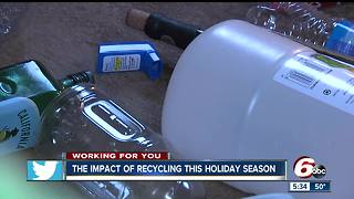 Impact of recycling during the holidays